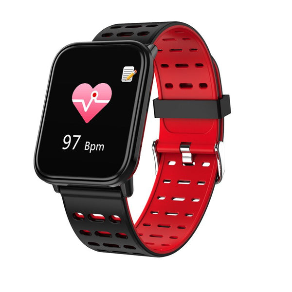 Red - BINSSAW  T6 New Smart Watch Men Women Heart Rate Monitor Blood Pressure Fitness Tracker Smartwatch Sport Watch for ios android