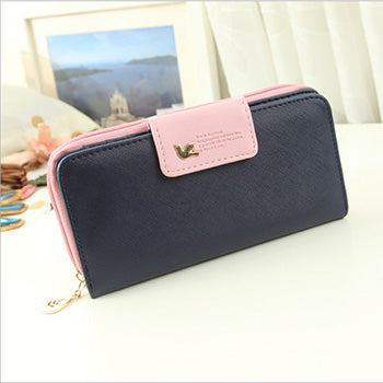 C - Mara's Dream Women Leather Wallet Women's Clutch Bag Hasp Wallet Zipper Long Purses Card Holder High Quality Bolsa Feminina