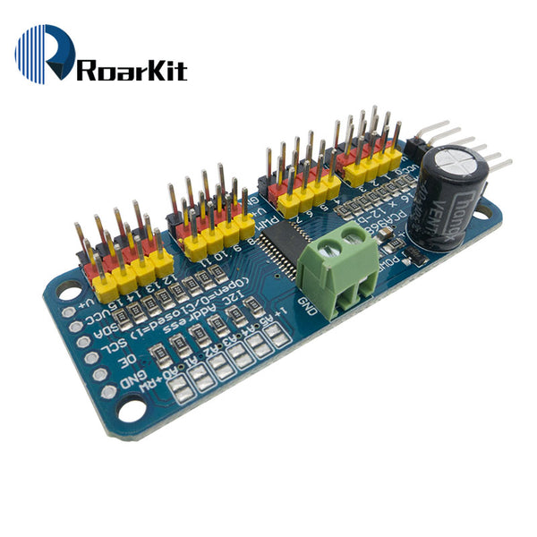 [variant_title] - 16 Channel 12-bit PWM/Servo Driver-I2C interface PCA9685 for arduino or Raspberry pi shield module servo shield