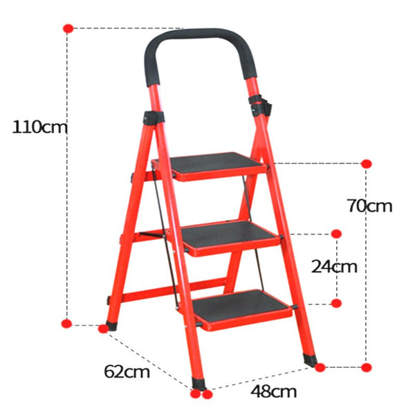 [variant_title] - A,Outdoor Fishing Chair Beach Step Stool Rescuing Ladder 5kg Household Portable Steel Collapsed Home Furniture 3 Steps Ladder