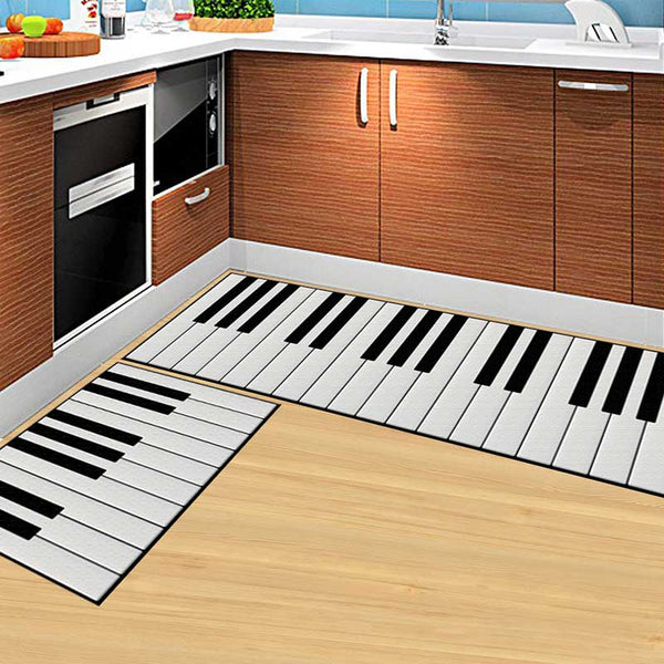 02 / 50x160cm - Kitchen Mat Cheaper Anti-slip Modern Area Rugs Living Room Balcony Bathroom Printed Carpet Doormat Hallway Geometric Bath Mat