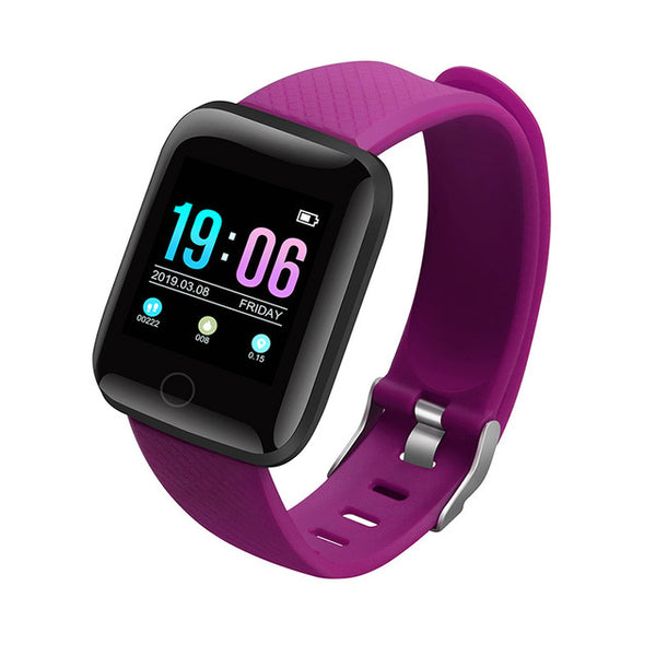 purple - Hembeer D13 Smart Watch Men Women For Android Apple Phone Waterproof Heart Rate Tracker Blood Pressure Oxygen Sport Smartwatch