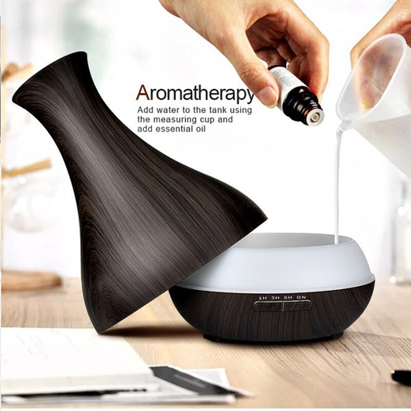 [variant_title] - 550ML APP Control Essential Oil Aroma Diffuser With Wood Grain Air Humidifier Aromatherapy Diffuser For Home Cool Mist Maker
