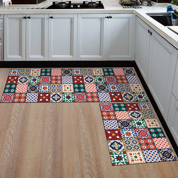 20 / 50x160cm - Kitchen Mat Cheaper Anti-slip Modern Area Rugs Living Room Balcony Bathroom Printed Carpet Doormat Hallway Geometric Bath Mat