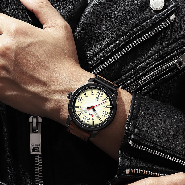 [variant_title] - Men Watch 2019 CURREN Men's Quartz Wristwatches Male Clock Top Brand Luxury Reloj Hombres Leather Wrist Watches with Calendar