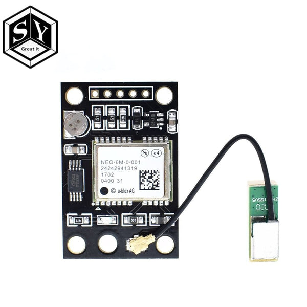 [variant_title] - 1PCS GY-NEO6MV2 NEO-6M GPS Module NEO6MV2 With Flight Control EEPROM Controller MWC APM2 APM2.5 Large Antenna For Arduino Board