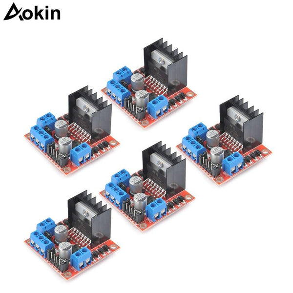 [variant_title] - 5pcs/lot L298N Stepper Motor Driver Controller Board Dual H Bridge Module for Arduino Electric Projects