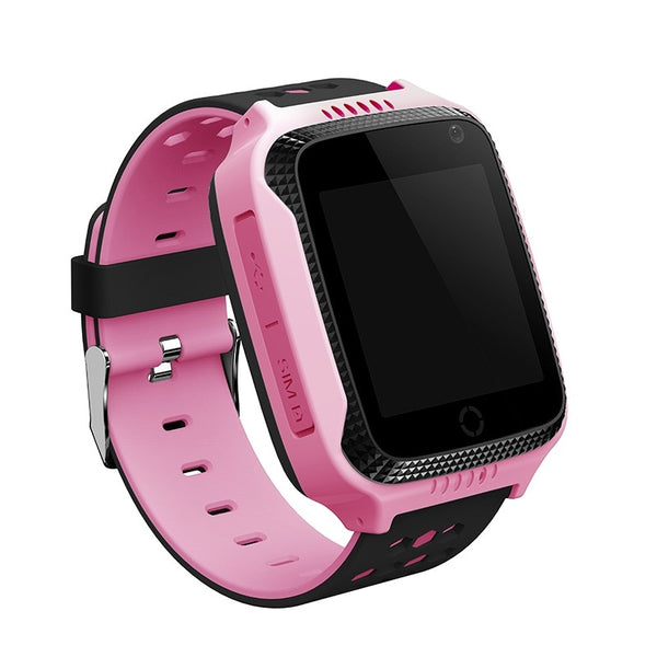 PINK watch - GPS tracker kids watch Camera Flashlight touch Screen SOS Call Location Baby clock Children Smart watches Q528 Y21 2G SIM card