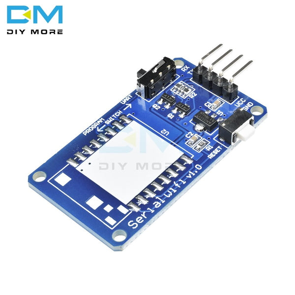 only Board - ESP8266 ESP-07 ESP07 Wifi Serial Transceiver Wireless Board Module 3.3V-5V 8N1 TTL UART Port Controller for Arduino UNO R3