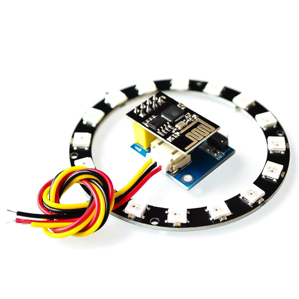 [variant_title] - ESP8266 ESP01 ESP-01 RGB LED Controller Adpater WIFI Module for Arduino IDE WS2812 WS2812B 5050 16 Bits Light Ring Christmas DIY