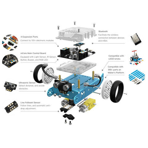 [variant_title] - 2019 Newest Makeblock mBot V1.1 Programmable Kids Toys Educational birthday Gift Scratch 2.0 Arduino DIY Smart Robot Car Kit