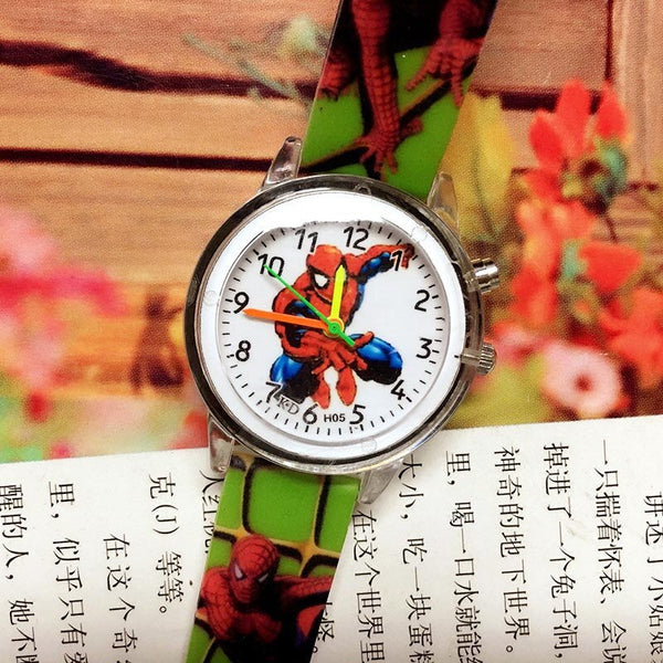 spiderman-Green - 2019 Spiderman Children Watches Cartoon Electronic Colorful Light Source Child Watch Boys Birthday Party Kids Gift Clock Wrist