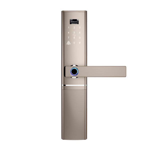 Champagne Gold - Fingerprint Door lock, Waterproof Electronic Door Lock Intelligent Biometric Door Lock Smart Fingerprint Lock