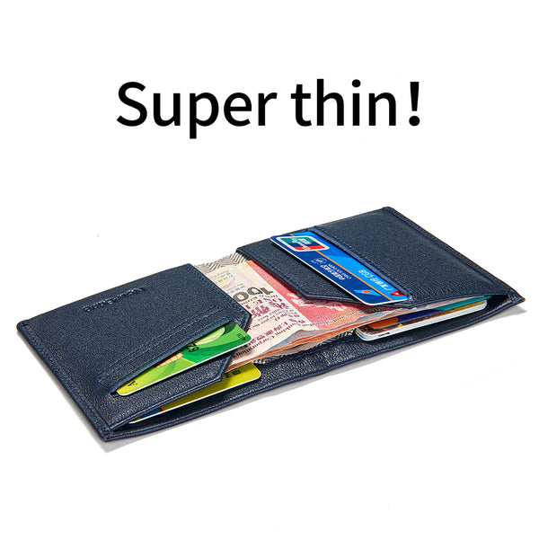 [variant_title] - NewBring Slim Leather RFID Blocking Wallet Male Card Purse Men
