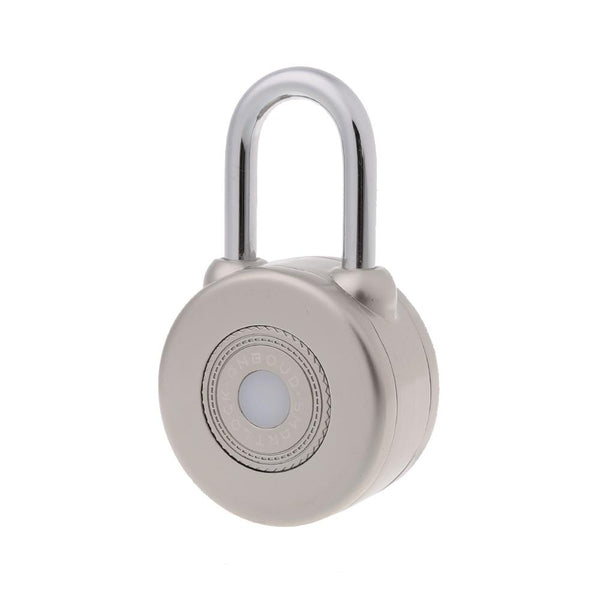 SILVER - OOTDTY 2 Color Wireless Control Smart Bluetooth Padlock Master Keys Types Lock with APP Control