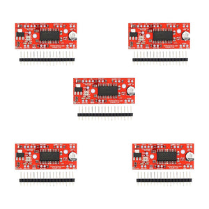 [variant_title] - Best price 5Pcs A3967 Easy Driver Stepper Motor Driver V4.4+Pin Header For Arduino