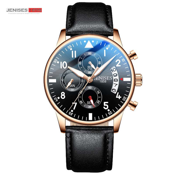 Rose - JENISES Men Watch Top Brand Luxury Quartz Watch Men Fashion Military Waterproof Chronograph Sport Watches Saat Relogio Masculino