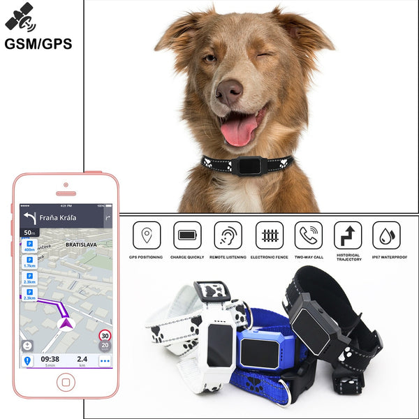 [variant_title] - Smart GPS Tracker Collar For Pet Dogs Cats Tracking Locator GSM WiFi LBS Real-time APP Tracking Alarm Device Anti-Lost Geofence