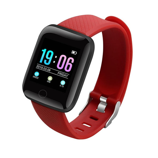 red - Hembeer D13 Smart Watch Men Women For Android Apple Phone Waterproof Heart Rate Tracker Blood Pressure Oxygen Sport Smartwatch