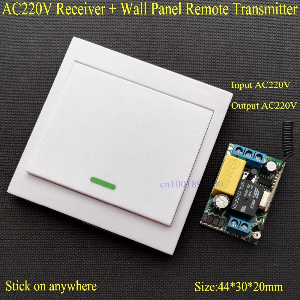 Default Title - Wireless Remote Control Switch AC 220V Receiver Wall Panel Remote Transmitter Hall Bedroom Ceiling Lights Wall Lamps Wireless TX