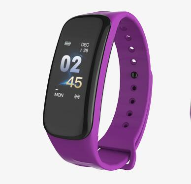 Purple - Wearpai C1Plus Men Sport Watches Heart rate Blood Pressure  Sleep Monitoring FitnessTracker Digital Clock Relogio Inteligente