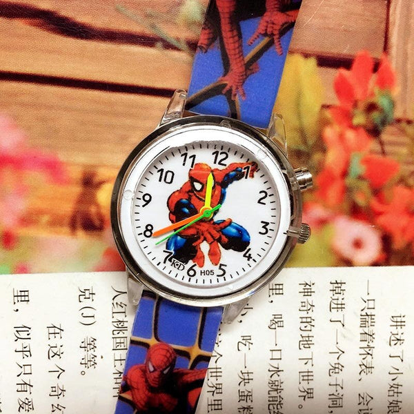 spiderman-Deep blue - 2019 Spiderman Children Watches Cartoon Electronic Colorful Light Source Child Watch Boys Birthday Party Kids Gift Clock Wrist