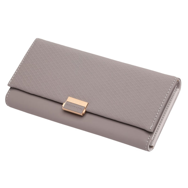 Grey - Woman Wallet Clutch Plaid Wallet Zipper Female Ladies Hot Change Women Luxury Credit Phone Card Holder Coin Purses For Girls