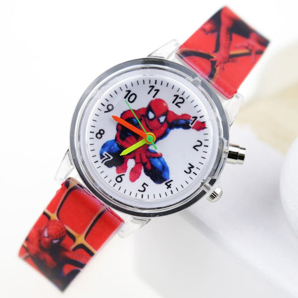 Boy Red Flash - Princess Elsa Children Watches Spiderman Colorful Light Source Boys Watch Girls Kids Party Gift Clock Wrist Relogio Feminino