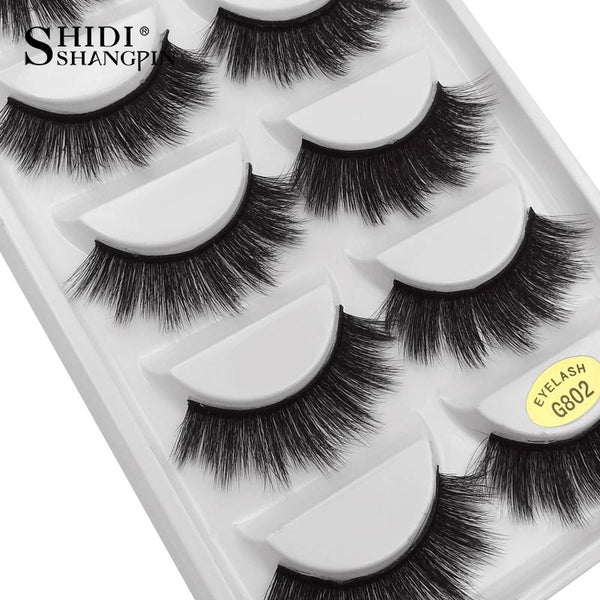 G802 - 5 Pairs eyelashes thick 3d mink lashes handmade eye lashes false eyelashes natural long mink eyelashes for makeup cilios 3d mink