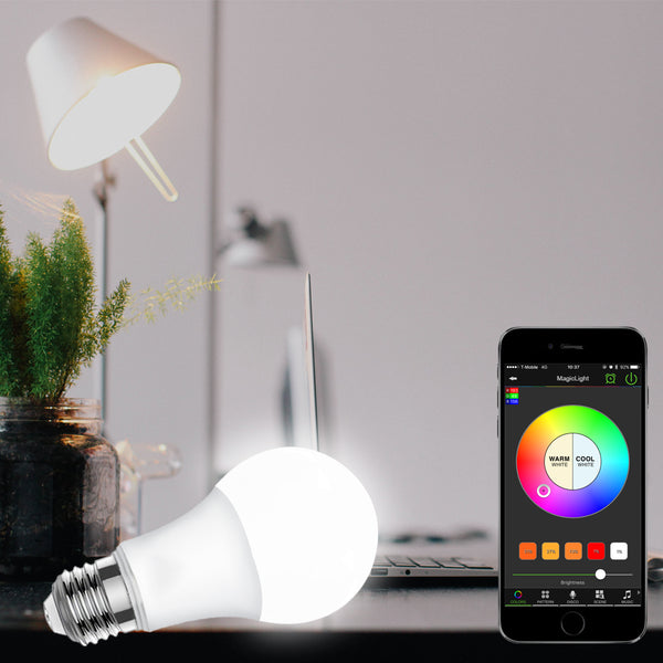 [variant_title] - 2018 Magic Blue 4.5W E27 RGBW led light WIFI bulb smart lighting Bluetooth lamp color change dimmable AC85-265V for home hotel