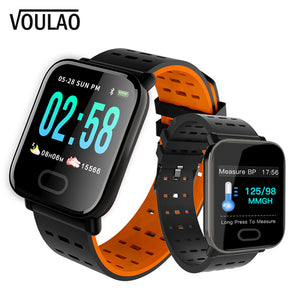 [variant_title] - VOULAO A6 Smart Watch Men Women Heart Rate Monitor Sport Fitness Tracker Waterproof Smartwatch For IOS Android Sport Wristband