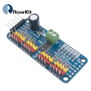 Default Title - 16 Channel 12-bit PWM/Servo Driver-I2C interface PCA9685 for arduino or Raspberry pi shield module servo shield