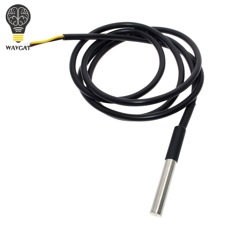[variant_title] - 1PCS DS1820 Stainless steel package Waterproof DS18b20 temperature probe temperature sensor 18B20 For Arduino
