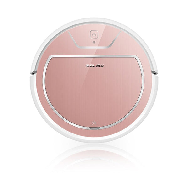 Rose gold / AU - Robot Vacuum Cleaner 350ML Electronic Suction Sweep Dry and Wet 2000 Pa Intelligent Navigation APP Control Robotic Dust Cleaner