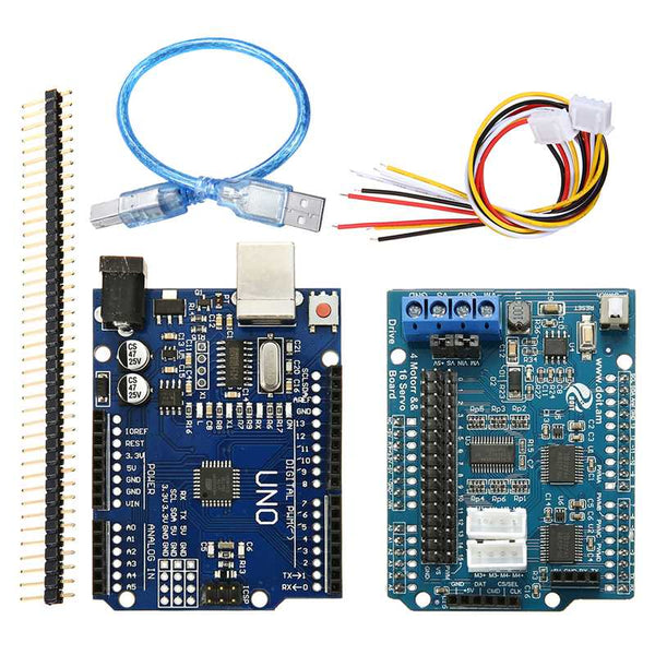 Only control Board - WiFi bluetooth Handle DIY Remote Control Smart Car Module Kit For Arduino Motor Servo Drive Arm