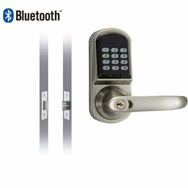 Default Title - Smartphone Bluetooth Entrance Smart Locks with Combination OS8015BLE Stain Chrome
