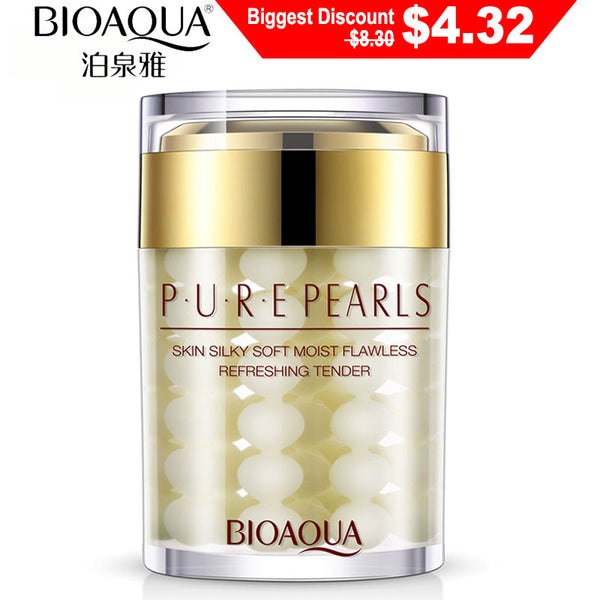 Default Title - BIOAQUA Pure Pearl Cream Whitening Moisturizing Brighten Anti Wrinkle Anti Aging Day Cream Firming lift Freckle Removal SkinCare
