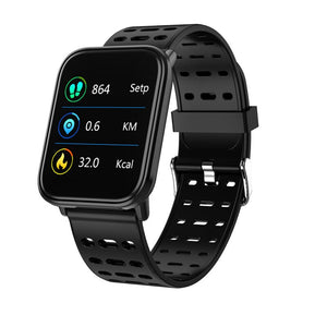 Black - BINSSAW  T6 New Smart Watch Men Women Heart Rate Monitor Blood Pressure Fitness Tracker Smartwatch Sport Watch for ios android