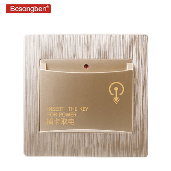 [variant_title] - 86X86mm high-end hotel smart card power switch 220V / 40A insert key for power supply