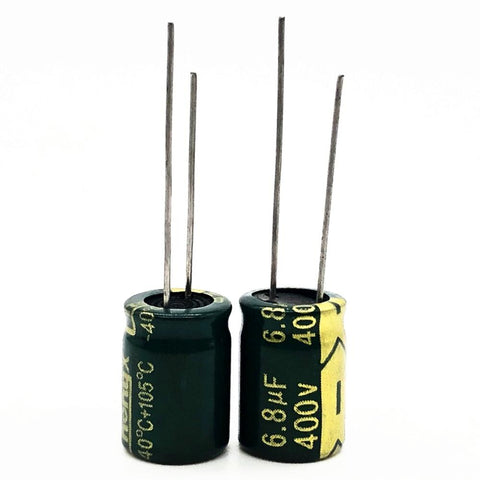 Default Title - 12pcs/lot 400V 6.8uf high frequency low impedance 10*13mm 20% RADIAL aluminum electrolytic capacitor 6800NF