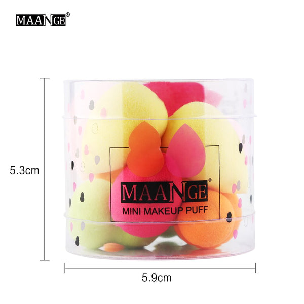 [variant_title] - 10Pcs Cosmetic Puff Makeup Foundation Sponge Powder Smooth Beauty Cosmetic Various Make Up Sponge Beauty Tool With Box