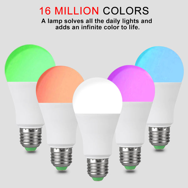 [variant_title] - EeeToo RGB Bluetooth Smart LED Bulb E27 15W/20W APP Music Voice Control Smart Lighting Lamp Multiple Colors LED Light for Home