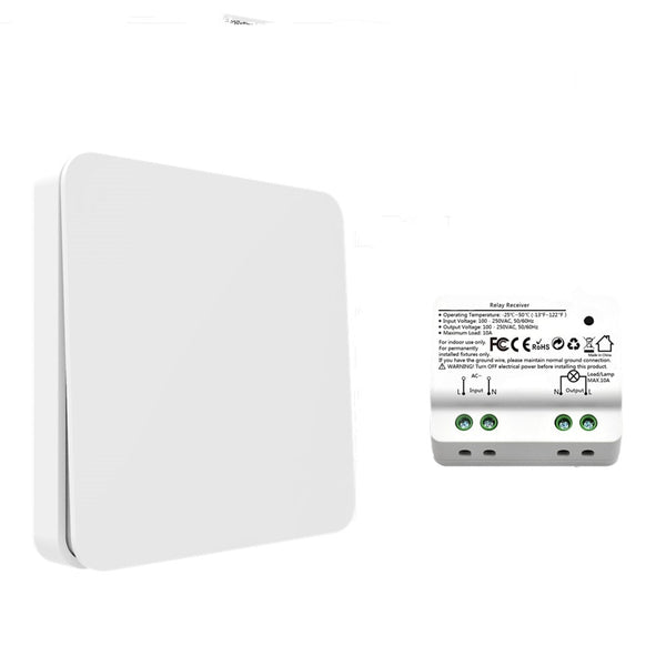 1 switch and 1 recei - Wireless Light Switch Wall Switch Remote Control Light Lamps up to 30m, No Battery, No Wire Needed Can Put the Switch Anywhere