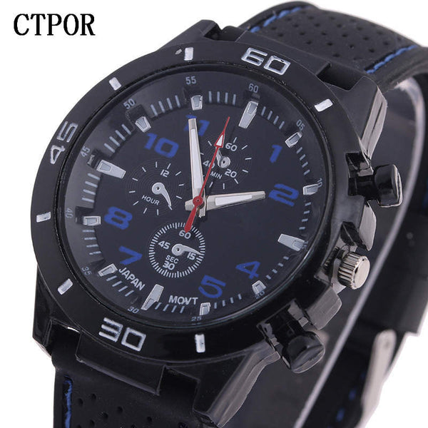 [variant_title] - 9-18 years Old Sports Children's Watch Military Sports Car Style Man Watches Silicone Wristwatch Child Student Clock Kids Boy WA
