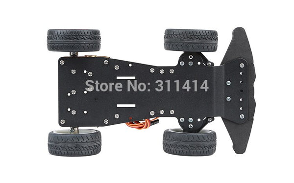 [variant_title] - 1set 4WD RC Smart Car Chassis With MG996R Metal Servo Bearing Kit For Arduino Metal Gear Motor 25MM Robot Platform DIY Kit Robot