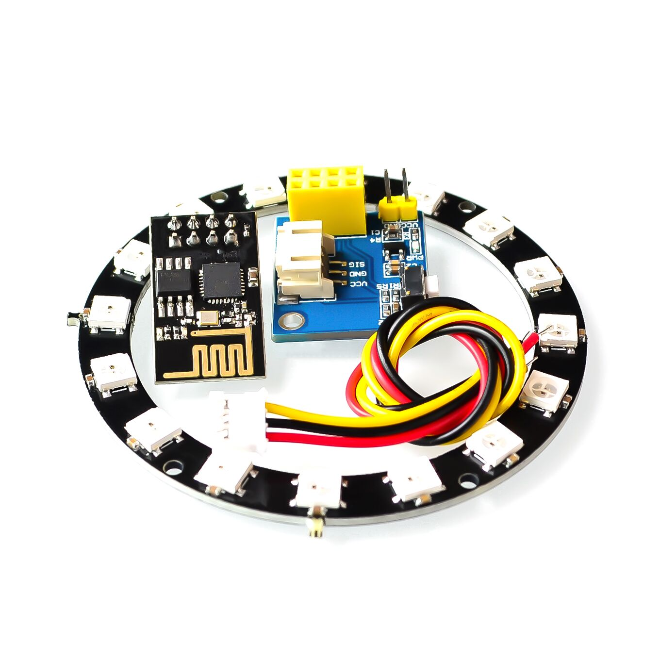 Default Title - ESP8266 ESP01 ESP-01 RGB LED Controller Adpater WIFI Module for Arduino IDE WS2812 WS2812B 5050 16 Bits Light Ring Christmas DIY