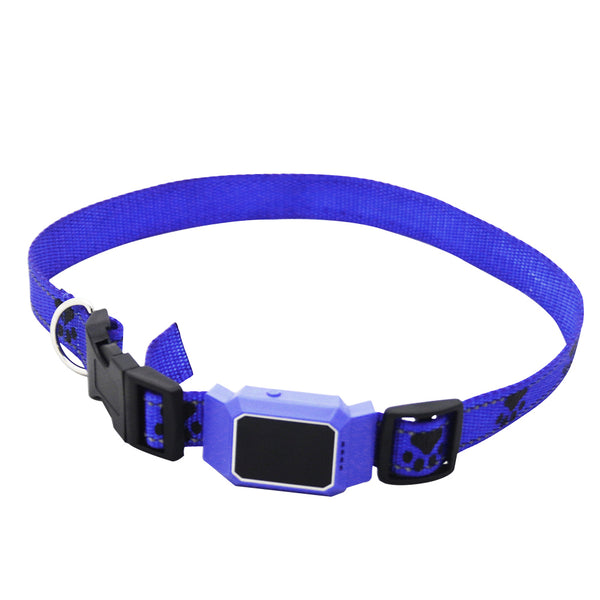 Blue - Smart GPS Tracker Collar For Pet Dogs Cats Tracking Locator GSM WiFi LBS Real-time APP Tracking Alarm Device Anti-Lost Geofence