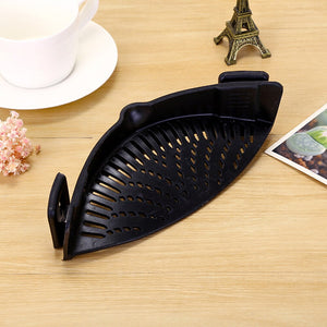 Black / 1-tier - Silicone Colanders Kitchen Clip On Pot Strainer Drainer For Draining Liquid Univers Draining Pasta Vegetable Tool DropShipping