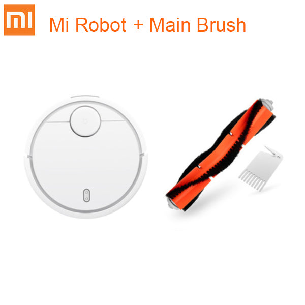 Add Main Brush / AU - Original Xiaomi Mi Robot Vacuum Cleaner for Home Automatic Sweeping Charge Dust Cleaner Smart Planned Mijia App Remote Control