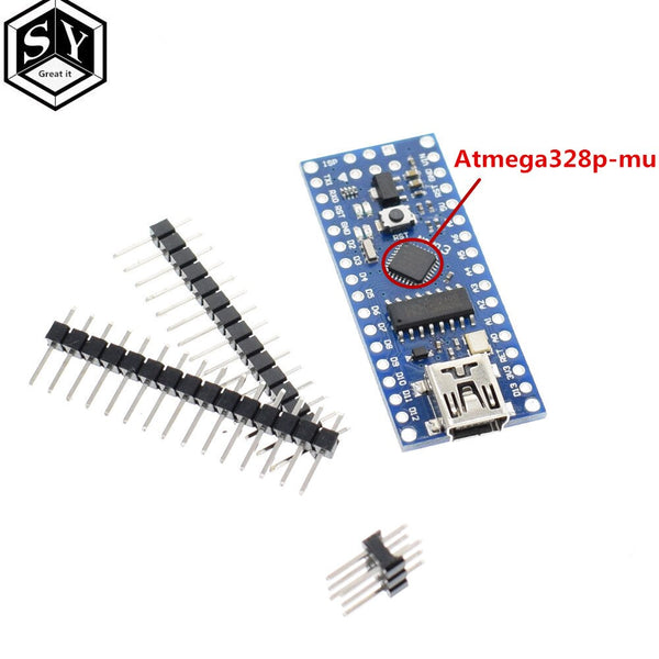 atmega328p-mu chip - Nano 1PCS Mini USB With the bootloader Nano 3.0 controller compatible for arduino CH340 USB driver 16Mhz NANO V3.0 Atmega328